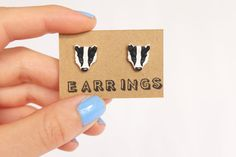 Hey, I found this really awesome Etsy listing at https://www.etsy.com/ru/listing/189838322/earrings-badger