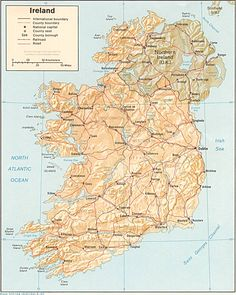 Ireland map (counties, cities, roads)  http://homepages.rootsweb.ancestry.com/~walsh/gif/ireland.jpg