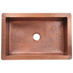 Polaris Sinks Undermount Copper 33 in. Single Bowl Kitchen Sink-P309 - The Home Depot