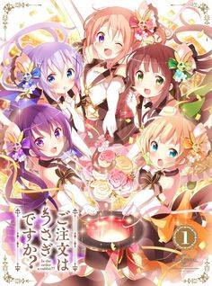 hoto_cocoa kafuu_chino kirima_sharo koi no_bra tedeza_rize thighhighs ujimatsu_chiya Manga Anime, Moe Anime, Kawaii Cute, Kawaii Girl, Kawaii Anime Girl, Manga Girl, Anime Girls, Anime Figures, Anime Characters