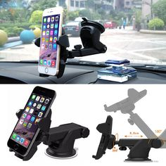 Telescopic Arm 360°Adjustable Sucker Mount Stand Holder For Cell Phone GPS