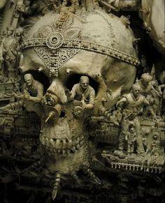 kris kuksi, horror art | Skulls & Bones | Pinterest