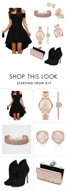 """""""Gold rose"""" by yasmine-elansary ❤ liked on Polyvore featuring Michael Kors, River Island, Monica Vinader, Miss Selfridge and Tory Burch"""