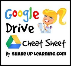 Google Drive Cheat Sheet By Shake Up Learning - a good overview for learning how to navigate your Drive.