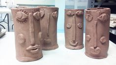 Modigliani inspired, clay camps! www.smallhandsbigart.com