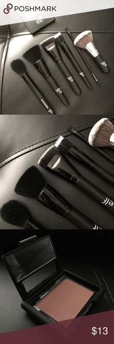 🎄ELF brush and blush bundle In this bundle you get 6 brushes and 1 blush. These brushes have been used once and just didn't work for me. The blush has only been swatched.   🖌Brushes: -Flat eyeliner brush -Highlighting brush -Powder brush -Contouring brush -Beautifully Bare Blending brush -Small stipple brush  💁🏻Blush: Mellow Mauve  ✔Offers are welcome ✔10% off two items or more ✘ No trades ELF Makeup