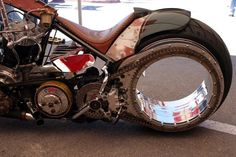 Billy Lanes hubless wheel.