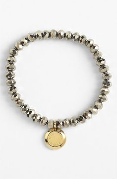 Michael Kors 'Brilliance' Charm Bead Stretch Bracelet available at #Nordstrom