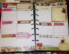 Craft Room Secrets: New series: Filofax decorated pages