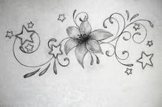 Image result for lily tattoos black and white