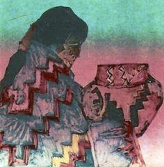 La Otra Olla Monotype 1988 by Amado Pena, Mexican/Yaqui