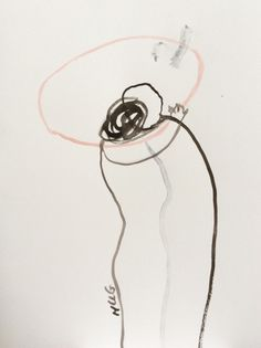 Doortjehannig: Hug 36x48cm. Indian ink, acrylic ink,...