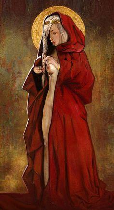 white girl in red, chloe veillard on ArtStation at https://www.artstation.com/artwork/0oRJE