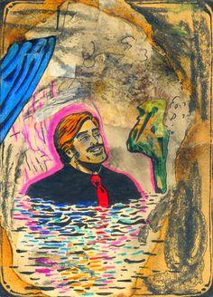 Badender Herr (Bathing Gent), 1981 by J.G.Wind - Portrait