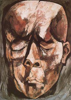 El Hombre ciego. 1963-1965. Óleo sobre tela. 135 x 96 cm. El Rostro de Hombre. La Edad de la Ira. Colección Fundación Guayasamín. Quito. Ecuador