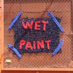 London Kaye. Wet paint. Love this