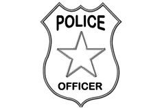 Police Car Coloring Pages Police Badge