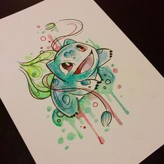 Bulbasaur one of many...available as a tattoo, prints coming, aiming to do all…