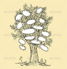 Family Tree Template - 50+ Download Free Documents in PDF, Word, PPT, PSD, Vector, Illustration