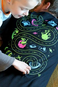Car Play Mat T-Shirt Hmmm. Thinking I can use this as inspiration for our cubby display for the class during our Space unit!