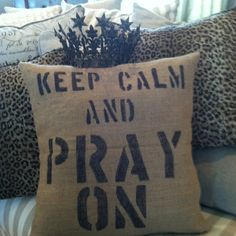 Burlap pillows a good thing!