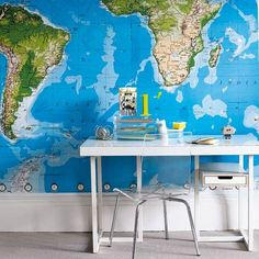 I want a world map in my house, so frickin bad!