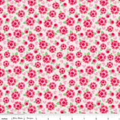 Lovey Dovey Roses Red Riley Blake 100% Cotton - The Supermums Craft Fair