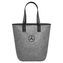Shopping will be fun with this felt tote. Inside zipper pocket Carabiner inside to attach your keys Web handles Made of polyester Embroidered Star logo on front Available color: grey Size: W x H x D Mercedes C300, Mercedes Benz Logo, Mercedes Accessories, Bag Accessories, Mercedes World, Large Canvas Tote Bags, Work Tote, Tote Pattern, Shopper Tote