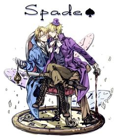 Hetalia - Cardverse - America / England (King and Queen of Spades)