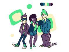 Steven Universe - Jenny, Sour Cream, Buck Dewey