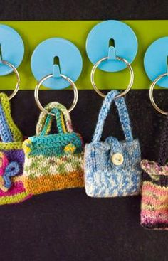 Mini purses key rings