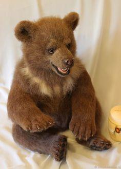 Animal Toys handmade. The bear felt 'Vanya'. Anna Petinati- Live toys handmade. Online shopping on My Livemaster.