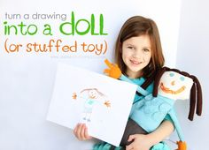 Turn Child's Drawing into Stuffed Toy