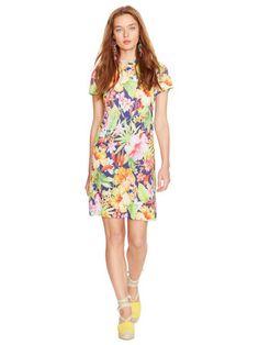 Floral Tee Dress - Polo Ralph Lauren Short Dresses - RalphLauren.com