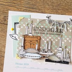 Inspiration Calendrier avec Stéphanie Les Bricol'heureux - Chou & Flowers Mix Media, Mixed Media Art, Hygge, Version Scrap, Tampons, Photo And Video, Inspiration, Illustration, Cards