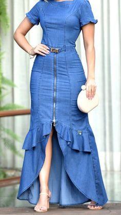 Modest Outfits, Casual Dresses, Short Dresses, Latest African Fashion Dresses, African Print Dresses, Fancy Dress Design, Dress Design Sketches, Classy Dress, Fashion Outfits