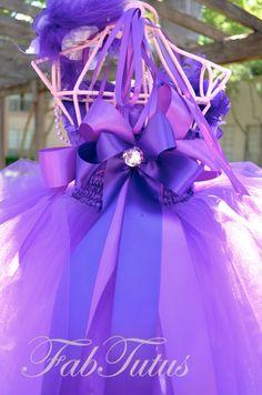 purple flower girl dress - back