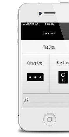 Davoli iPhone App by Stefano Tirloni, via Behance