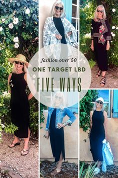 Target LBD Five Ways-cindy hattersley rough luxe lifestyle Fashion Over 40, 50 Fashion, Mature Fashion, Grey Hair Over 50, Gray Hair, First Target, Hairstyles Over 50, Fall Fashion Trends, Style
