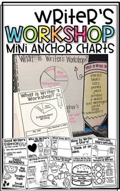 Workshop Mini-Anchor Charts Writer's Workshop Mini Anchor Charts to Launch Writer's Workshop and Teach Personal Narratives and Opinion Writing. Helpful for your Writing instruction in the primary classroom!Personal Personal may refer to: Anchor Charts First Grade, Kindergarten Anchor Charts, Writing Anchor Charts, Kindergarten Writing, Teaching Writing, Writing Activities, Kindergarten Writers Workshop, Teaching Ideas, Writing Lab