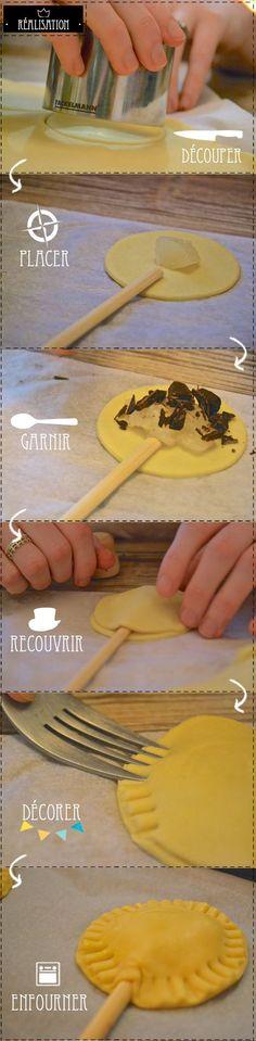 DIY/recette facile Pie pop Poire et Chocolat
