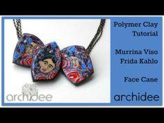 Tutorial   Polymer Clay   DIY Millefiori Face Cane   Murrina Viso   Frida Kahlo   Mexico Collection