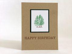 Tree Birthday Card - Nature Birthday Card - Forest Birthday Card - Hiker Happy Birthday Card - Outdoor Birthday Card - Birthday Card for Him