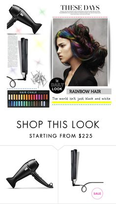 """""""Rainbow hair"""" by tawnee-tnt ❤ liked on Polyvore featuring beauty, GHD, Monki and rainbowhair"""