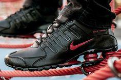 "Nike Shox NZ ""Black & Gym Red"""