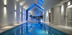 Magnificent indoor pool by Portrait Pools