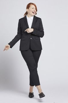 Shop our women's black suit jacket, designed with timeless style in mind. This classic black blazer is perfect for any occasion!