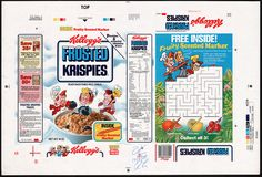 Kellogg's - Frosted Rice Krispies - Fruity Scented Marker - cereal box proof - 1988 | Flickr - Photo Sharing!