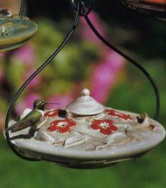 Ceramic Hummingbird Feeder