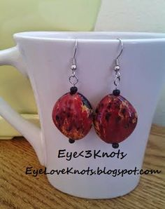 Eye Love Knots: New Dangle Earrings up for Sale on Etsy! Limited Supply. Hypoallergenic!